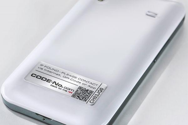 5er Sicherheitslabel-Set, aus Aluminium