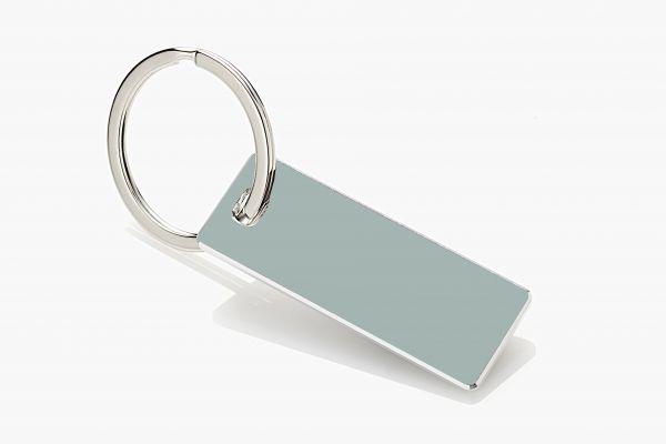 """Schlüsselanhänger """"OSLO AQUA"""", mit Designkante (2,5mm), in Geschenkverpackung"""